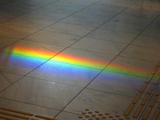 太陽光のスペクトル(イメージ)