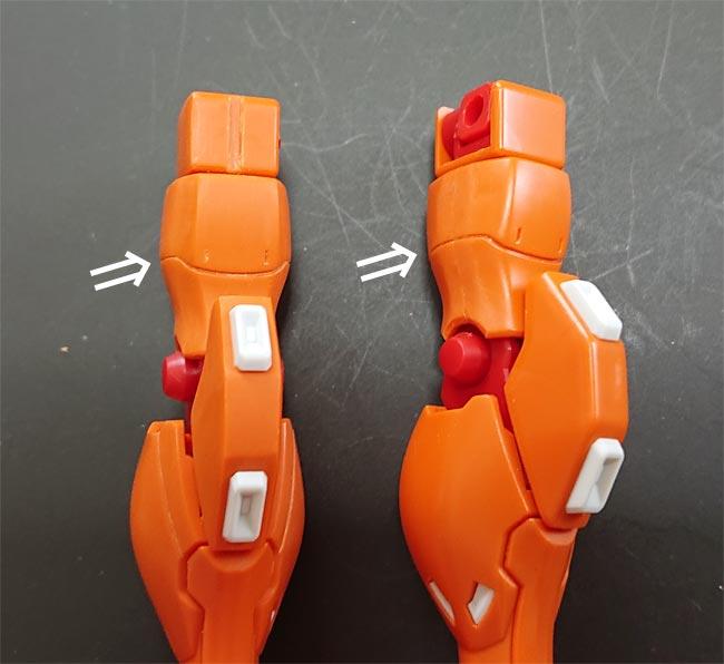 HG Gアルケイン 脚部の工作