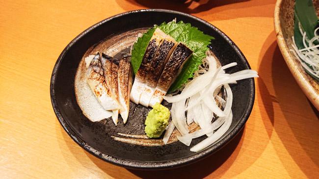 炙り〆鯖 420円(税別)