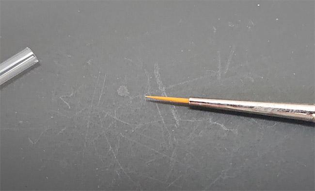 タミヤ メイクアップ材シリーズ No.48 モデリングブラシ HF 面相筆 極細 87048