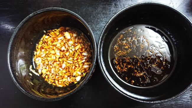 茹で鶏のタレ2種類