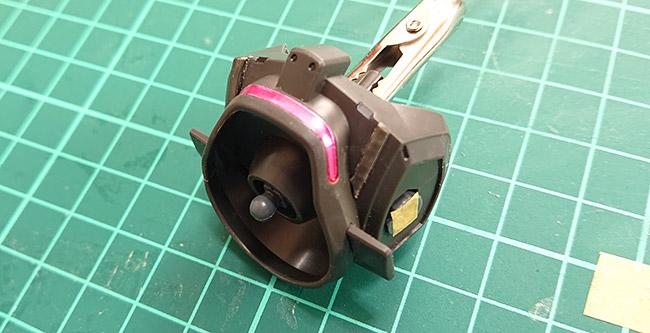 HGグリモア 付属のシールをマスキングとして使用