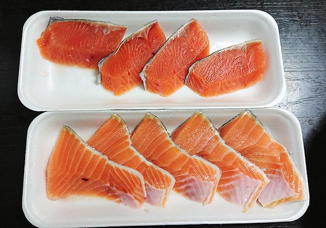 生鮭の切り身 冷凍