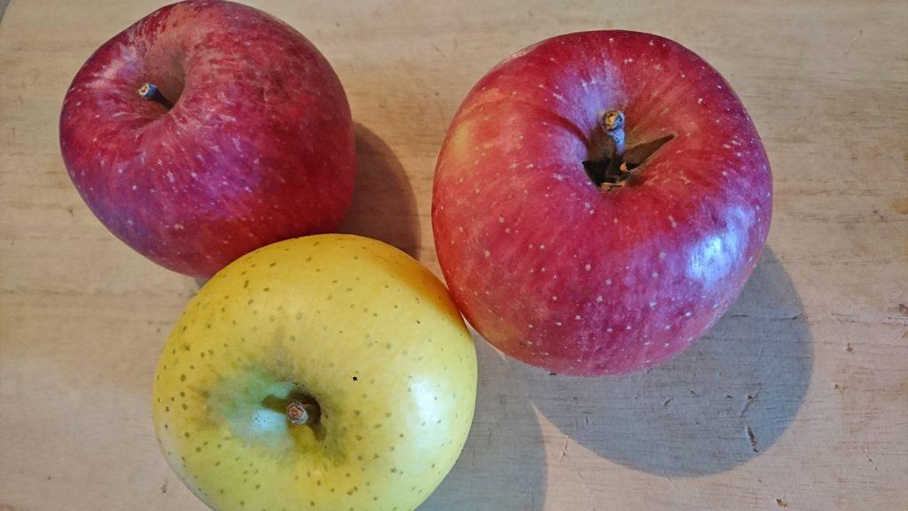 古くなってきたリンゴ