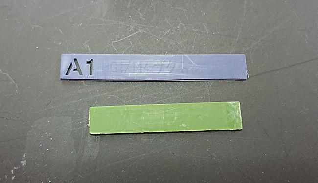 HGオリジン版 旧ザク ランナープラ板