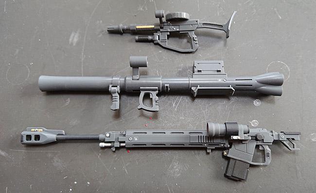 HGオリジン版 旧ザク 部分塗装後 武器類