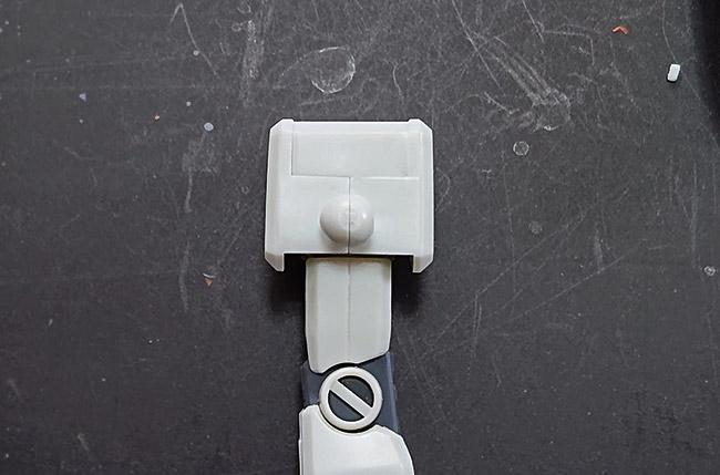 HG ガンダム(リバイブ版)肩の接続