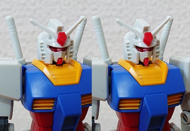 HG ガンダム(リバイブ版) 頭部の画像修正