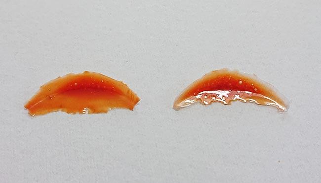 ランナーパテ 気泡の違い