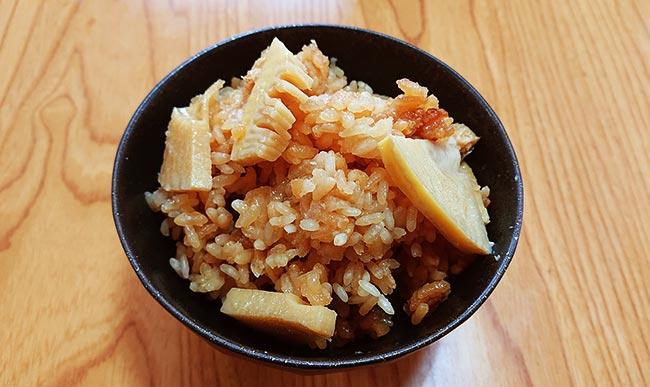 タケノコの炊き込みご飯