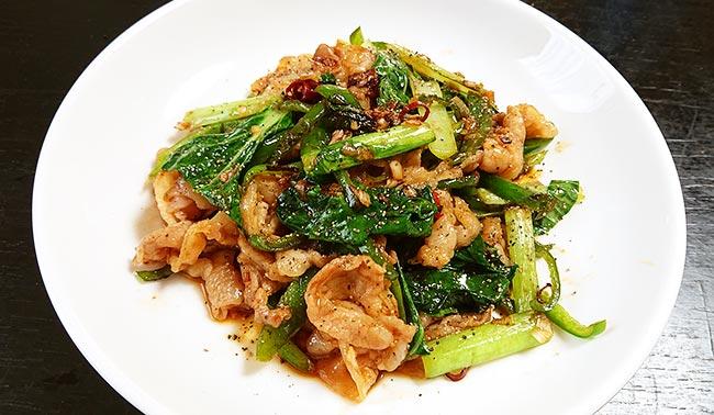 豚バラ肉のオイスターソース野菜炒め 完成