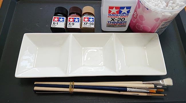ウォッシングに使うエナメル塗料