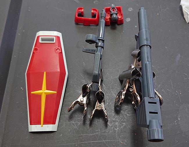 hgガンダム リバイブ 武器類