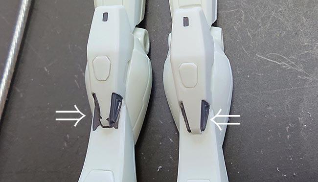 hgガンダム リバイブ 脚部の部分塗装