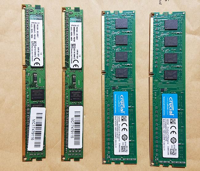 4GB 8GB メモリ 形状の違い