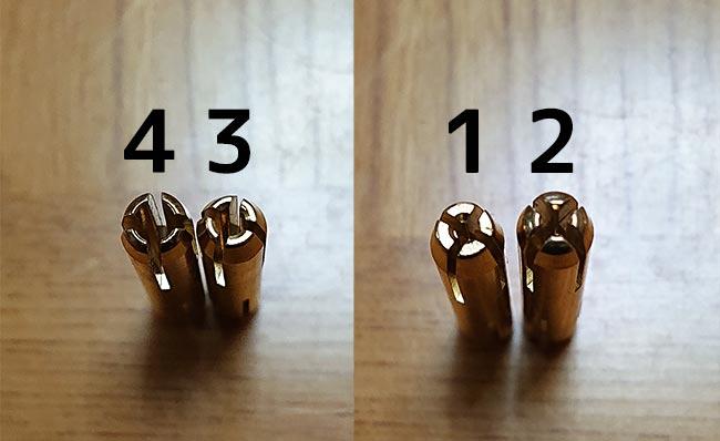 ピンバイス チャックの構造