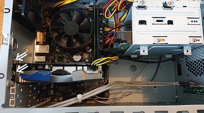 PCの内部 グラフィックボード