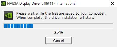 グラボ ドライバインストール手順 保存されたらインストールスタート