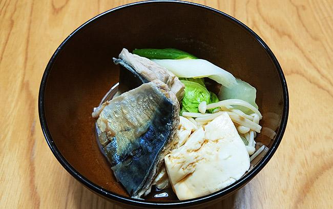鯖と白菜のお鍋 完成!